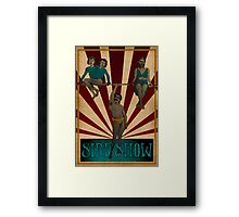 Side Show Framed Print