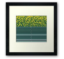 Green Bench Framed Print