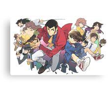 Lupin vs Conan Canvas Print