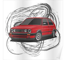 Volkswagen Golf GTI G60 (red) Poster