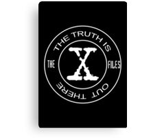 The X-Files the truth is out there (in white) Canvas Print
