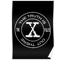 The X-Files the truth is out there (in white) Poster