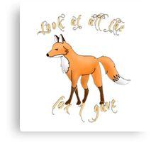 What fox? Canvas Print