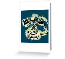 telephone shirt Greeting Card