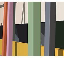 Coloured poles Photographic Print