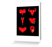 Different emotions of love Greeting Card
