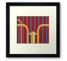 Yellow Blue Red Framed Print