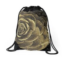 Gold Succulent Drawstring Bag