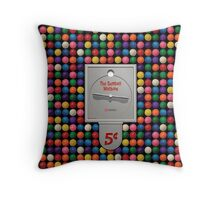 The Gumball Machine Throw Pillow