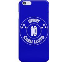USWNT Carli Lloyd in white/blue iPhone Case/Skin