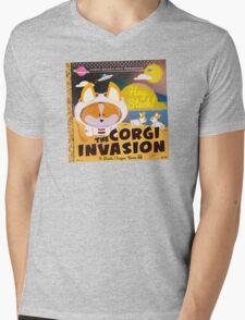 Corgi Invasion - Oregon Beach Day Mens V-Neck T-Shirt