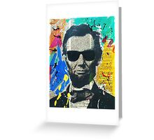 Cool Abraham Lincoln Greeting Card