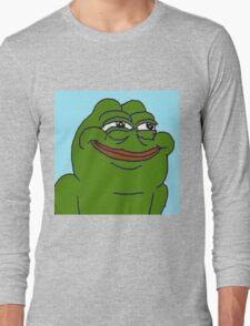 SMILING PEPE THE FROG MEME (RARE) Long Sleeve T-Shirt