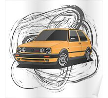 Volkswagen Golf GTI G60 (yellow) Poster