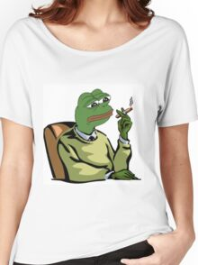 CASUAL DRESSED PEPE THE FROG MEME (RARE) Women's Relaxed Fit T-Shirt