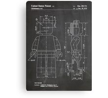 LEGO Minifigure US Patent Art Mini Figure blackboard Canvas Print
