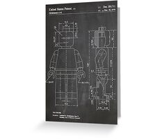 LEGO Minifigure US Patent Art Mini Figure blackboard Greeting Card