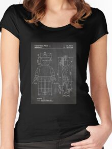 LEGO Minifigure US Patent Art Mini Figure blackboard Women's Fitted Scoop T-Shirt