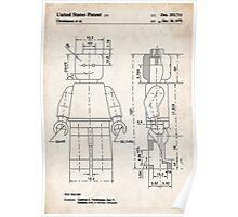 Lego Minifigure US Patent Art Poster