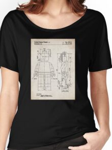 Lego Minifigure US Patent Art Women's Relaxed Fit T-Shirt