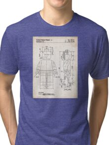 Lego Minifigure US Patent Art Tri-blend T-Shirt