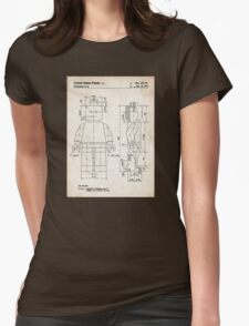 Lego Minifigure US Patent Art Womens Fitted T-Shirt