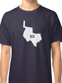 Texas 1836 in White Classic T-Shirt