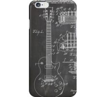 Gibson Les Paul  guitar us patent art 1955 blackboard iPhone Case/Skin