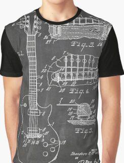 Gibson Les Paul  guitar us patent art 1955 blackboard Graphic T-Shirt