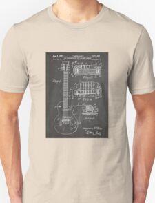 Gibson Les Paul  guitar us patent art 1955 blackboard T-Shirt