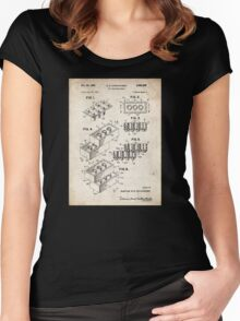 Lego Toy Blocks US Patent Art Women's Fitted Scoop T-Shirt