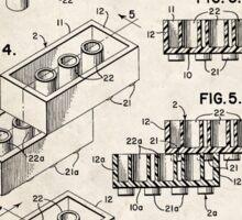 Lego Toy Blocks US Patent Art Sticker