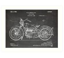 Harley-Davidson Motorcycle US Patent Art 1928 blackboard Art Print