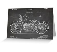 Harley-Davidson Motorcycle US Patent Art 1928 blackboard Greeting Card