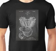 Harley Davidson Motorcycle Engine US Patent Art 1923 Unisex T-Shirt
