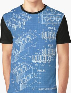 LEGO Construction Toy Blocks US Patent Art blueprint Graphic T-Shirt