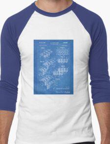 LEGO Construction Toy Blocks US Patent Art blueprint Men's Baseball ¾ T-Shirt