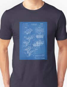 LEGO Construction Toy Blocks US Patent Art blueprint Unisex T-Shirt