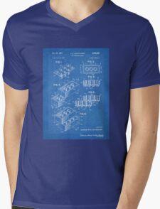 LEGO Construction Toy Blocks US Patent Art blueprint Mens V-Neck T-Shirt