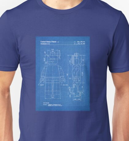 LEGO Minifigure US Patent Art Mini Figure blueprint Unisex T-Shirt