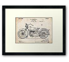 Harley Davidson Motorcycle US Patent Art 1928 Framed Print