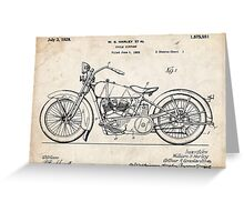 Harley Davidson Motorcycle US Patent Art 1928 Greeting Card