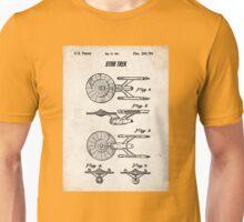 Star Trek USS Enterprise US Patent Art Spacecraft Rocket Kirk Spock Unisex T-Shirt