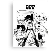 OFF shirt - Scott Pilgrim style Canvas Print