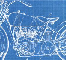 Harley-Davidson Motorcycle US Patent Art 1928 blueprint Sticker