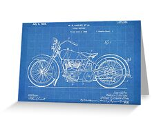 Harley-Davidson Motorcycle US Patent Art 1928 blueprint Greeting Card