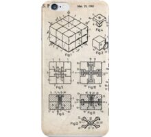Rubik's Cube Toy Puzzle 1983 US Patent Art iPhone Case/Skin