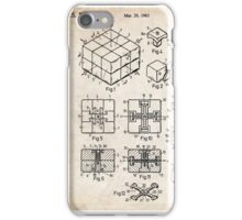 Rubik's Cube Toy Puzzle 1983 US Patent Art iPhone Case/Skin