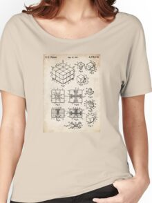 Rubik's Cube Toy Puzzle 1983 US Patent Art Women's Relaxed Fit T-Shirt