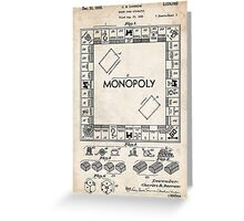 Monopoly Board Game US Patent Art 1935 Greeting Card
